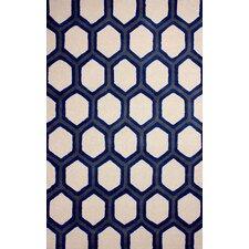 Europe Blue/White Tianna Area Rug