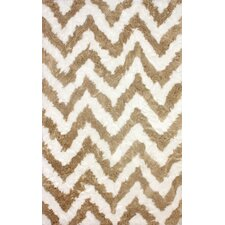 Cloud Tan / White Area Rug