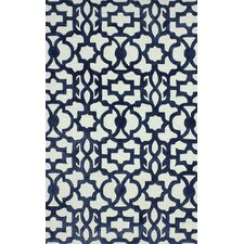 Filigree Mykonos Blue/White Area Rug