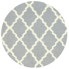 Moderna Hand-Woven Light Gray Marrakech Trellis Area Rug