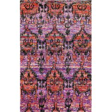 Carleen Hand Knotted Fuchsia Area Rug