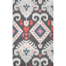 Ikat Talia Hand Looped Gray Area Rug