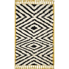 Moroccan Joette Hand Knotted Ivory Area Rug