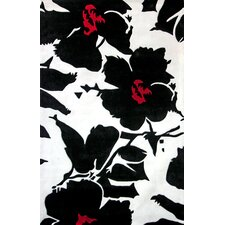 Pop Amore Black & White Area Rug