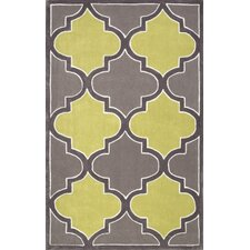 Fez Hand Tufted Green/Gray Area Rug