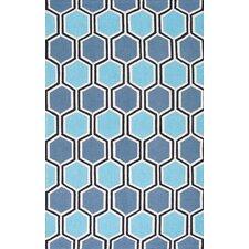 Uzbek Ahrens Blue Area Rug
