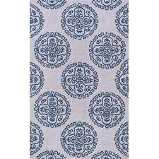 Uzbek Stpierre Gray/Blue Area Rug