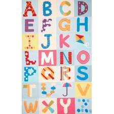 Uzbek Alphabet Boxes Multi Area Rug