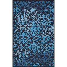 Uzbek Cloutier Blue Area Rug