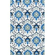 Uzbek Tomlin Ivory/Blue Area Rug
