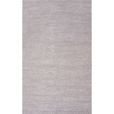 Chunky Woolen Cable Light Gray Area Rug
