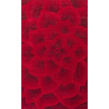 Bordeaux Red Gol Area Rug