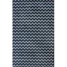 Allure Blue Chevron Area Rug
