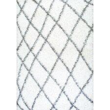 Selina White Shag Area Rug