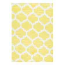 Shaunna Faux Sheepskin Yellow Area Rug