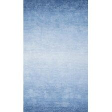 Ombre Bernetta Hand-Tufted Blue Area Rug