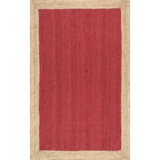 Eleonora Hand-Woven Red Area Rug
