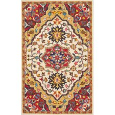 Arline Hand-Tufted Red Area Rug