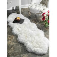 Sheepskin Shag Natural Area Rug