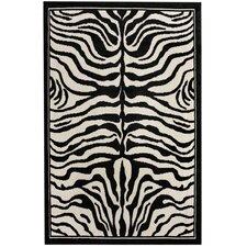 Zebra Print Black/White Area Rug