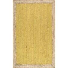 Eleonora Hand-Woven Yellow Area Rug