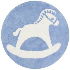 Rocking Horse Hand-Tufted Baby Blue Area Rug