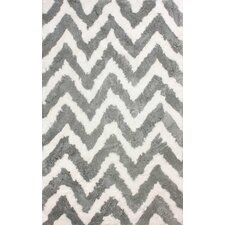 Cloud Gray & White Area Rug