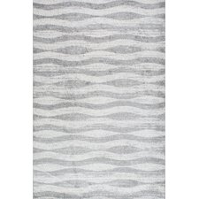 Lada Abstract Waves Gray Area Rug