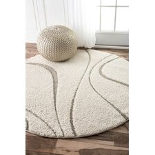 Veneti Cream Curves Area Rug