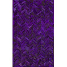 Hudson Purple Chevron Area Rug