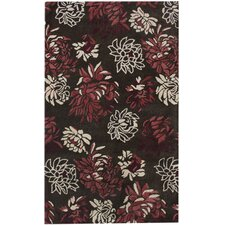 Hudson Peonies Dark Chocolate Rug