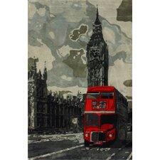 Sovereign Gray London Bus Novelty Area Rug