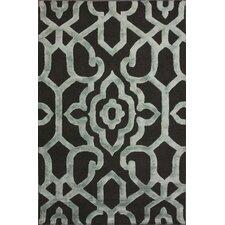 Fancy Grey Ornate Trellis Area Rug