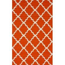 Homestead Orange Lannah Trellis Geometric Area Rug