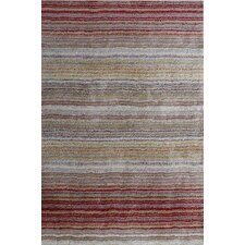 Cine Red Striped Area Rug