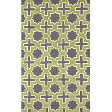 Homestead Purple/Green Nala Geometric Area Rug