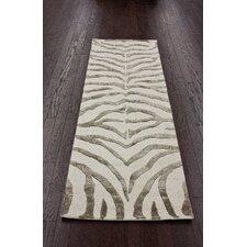 Earth Grey/Beige Radiant Zebra Area Rug