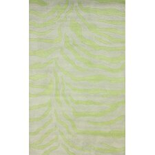 Earth Lime Plush Zebra Rug