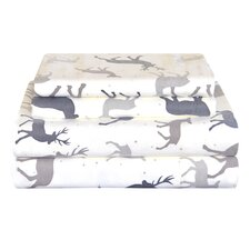 Autumn Deer Cotton Sheet Set