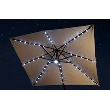 10' Santorini II Fiesta Cantilever Umbrella