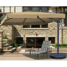 10' Santorini II Cantilever Umbrella with Valance