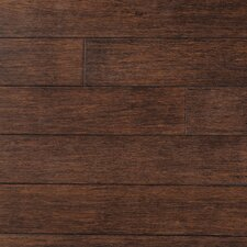 "Strand Woven 5"" Solid Bamboo Hardwood Flooring in Cobra Brown"
