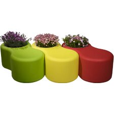 Infinity Recycled Plastic Planter Bench