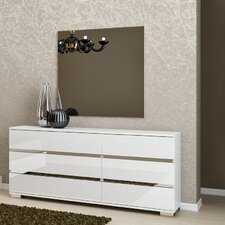 Vivente 6 Drawer Dresser with Mirror
