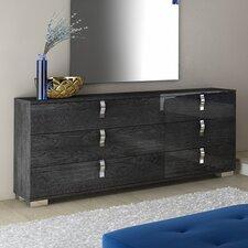 Noble 6 Drawer Double Dresser