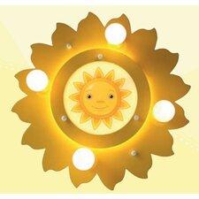 Deckenleuchte 5-flammig Sonne