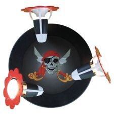 Wandstrahler 3-flammig Piratenwelt