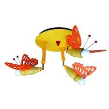 Deckenleuchte 3-flammig Schmetterling