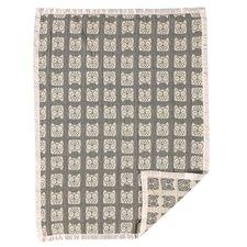 Muslin Jacquard Owl Blanket