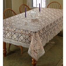 Chateau Embroidered Vintage Lace Design Tablecloth